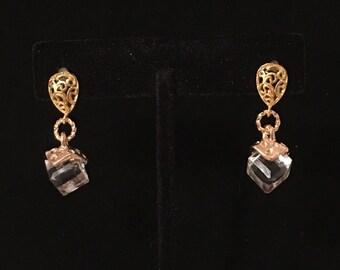 Crystal Drop pierced post earrings