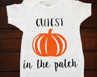 Cutest Pumpkin in the Patch onesie/tshirt