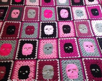 Skull Blanket Crochet Pattern Skull Blanket Crochet Skull