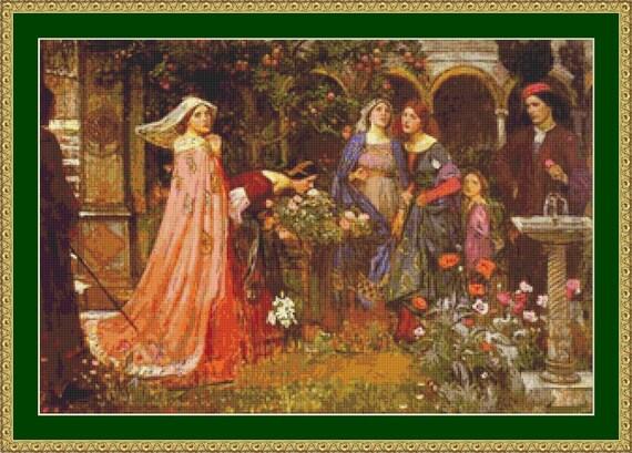 The Enchanted Garden Cross Stitch Pattern /Digital PDF Files /Instant downloadable