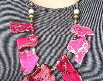 Pink Stone Single Necklace