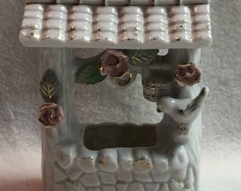 Wishing Well with Bird and Flowers (#172)