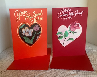 Vintage Valentine's Day Cards and Envelopes by Hallmark / Red Valentine Card for Someone Special