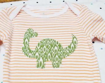Baby Onesie - Green Dinosaur