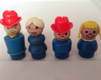 Fisher Price Little People Wood Farm Family