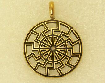 Amulet Pendant Black Sun Cut-Through