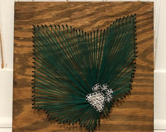 Ohio University string art