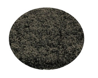 """COLOSSAL Candy Shag by KANE 1-1/2"""" Thick ROUND Anise Carpet Area Rug"""