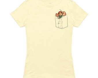 Despereaux shirt/ cute animals/ Pocket Hero/  Despereaux/ Women's fit tee