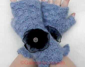 Crochet  Fingerless Gloves  Wrist Warmers