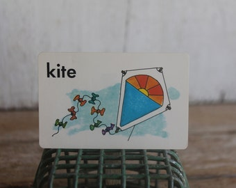 Vintage 1970s Flash Card // Kite