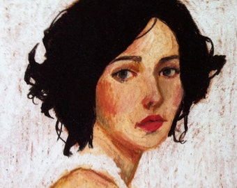Rimma / Print -  woman PORTRAIT ART PRINT