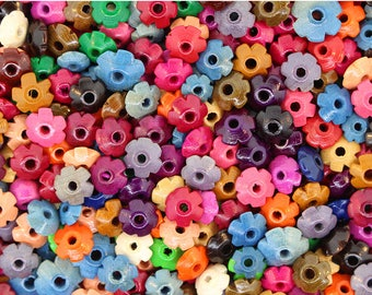 250 pcs - Wood Bead Mix (Daisy Spacer) 8MM