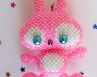 Bunny bag charm keychain