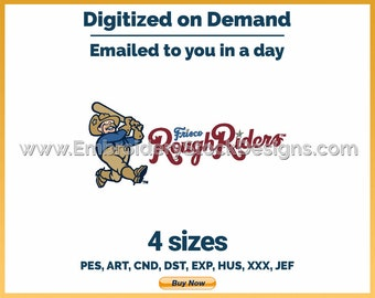 Frisco Rough Riders - MiLB Sports Logo Embroidery Design - 4 sizes Embroidery