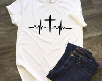 Cross Heartline T-Shirt