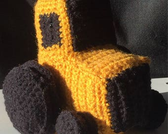 Yellow Tractor stuffed toy