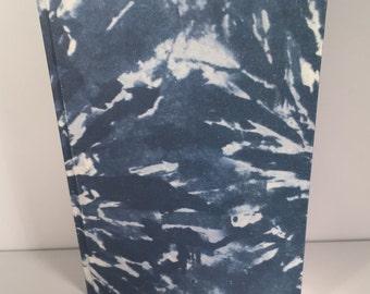 A5 Navy Blue patterned sketchbook