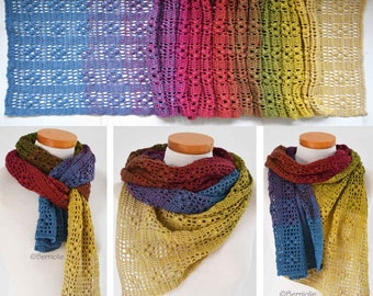 KYOMI, Crochet shawl pattern pdf