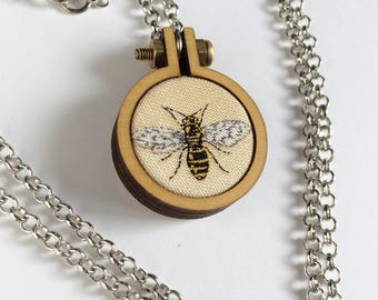 Bee necklace, bee pendant, bee jewellery, handmade jewellery, handmade pendant, statement necklace, statement jewellery, gifts under 50