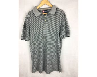 CHAPS by Ralph Lauren Medium Size Polo Shirt Small Embroidered Logo at Hand Collar
