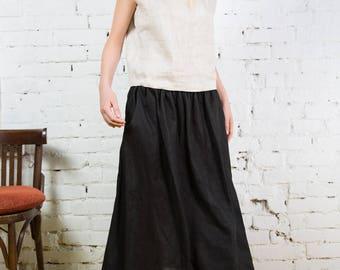 Long Linen Skirt,Boho Skirt,Grey Maxi Skirt,Long Skirt, Maxi Skirt Boho, Skirt with Pockets, Womens Skirts, Linen skirt, Custom Skirt/LS0002