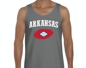 Arkansas State Flag State University of Arkansas Razorbacks Hogs  American Mens Tanks