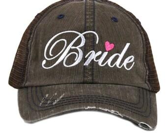 Bride Distressed Trucker Hat