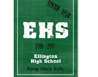 Hardcover Memory Book - High School Senior Year (Class of 2018) Graduation, Scrapbook, Photo book, Big Brown Chair, Smash book, Graduate