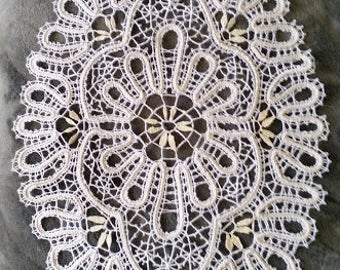 oval doily lace