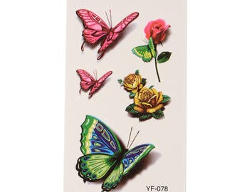 Butterfly Tattoo Sheet - 1 Pc