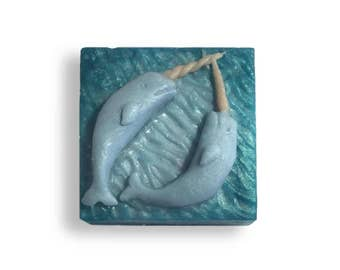 Narwhal Soap || Hand Sculpted Nautical Theme || Ocean Bathroom Decor | Coastal Housewarming Gift || Sea Life