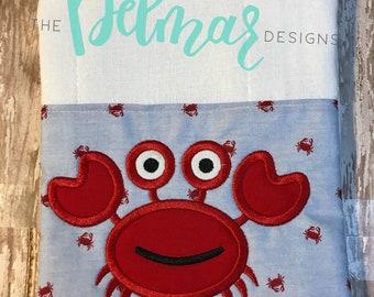 Crab Burp cloth / burp cloth / crab / baby gift / baby shower gift