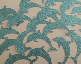 Glitter Dolphin Confetti,Glitter Confetti,Dolphin Confetti,Ocean Party Confetti,Beach Party Confetti,Table Confetti