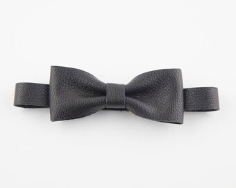 black leather bow ties for men, ring bearer bow tie, bow ties for boys, page boy, groomsmen bow tie, cake smash outfit boy, father of the