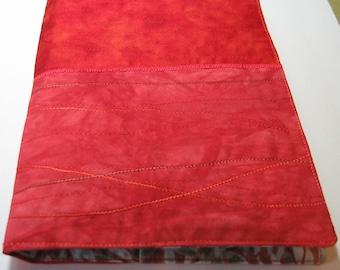 Orange spot and batik journal cover