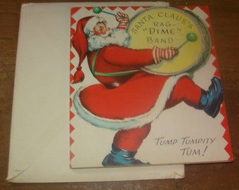 Cute Vintage Christmas Card (Santa)