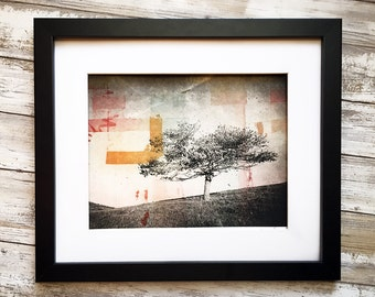 Wall Art - Original Modern Etching - World on Fire