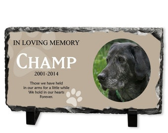 Personalized Dog Photo Memorial Stone Plaque