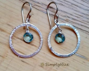 Aqua Zircon Earrings
