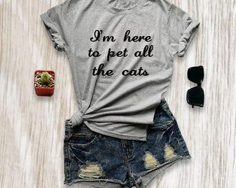 Funny cat shirts womens cat t shirt cat lover gift cat tshirt animal shirts pet lover t shirts best friends shirt size XS S M L XL