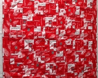 Red wing stroller quilt