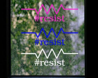 Resist Symbol with #resist text - CHARITY DONATION to ACLU
