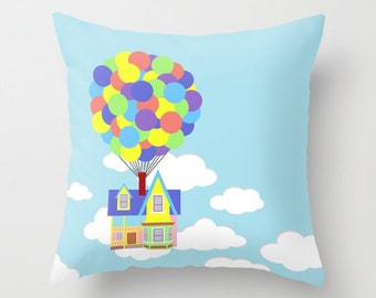 Disney's UP! Over Sky and Clouds Decorative Pillow with Insert