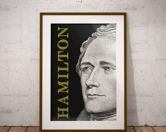 Alexander Hamilton Portrait Print - *DIGITAL DOWNLOAD*