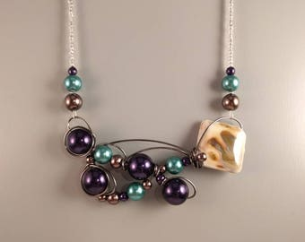 Purple and teal necklace