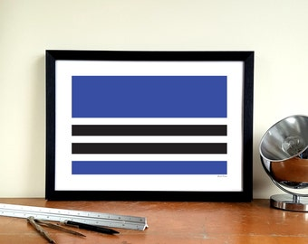 "Tottenham Hotspur A3 Minimalist Graphic Design Art Print - White Hart Lane ""West Stand"""