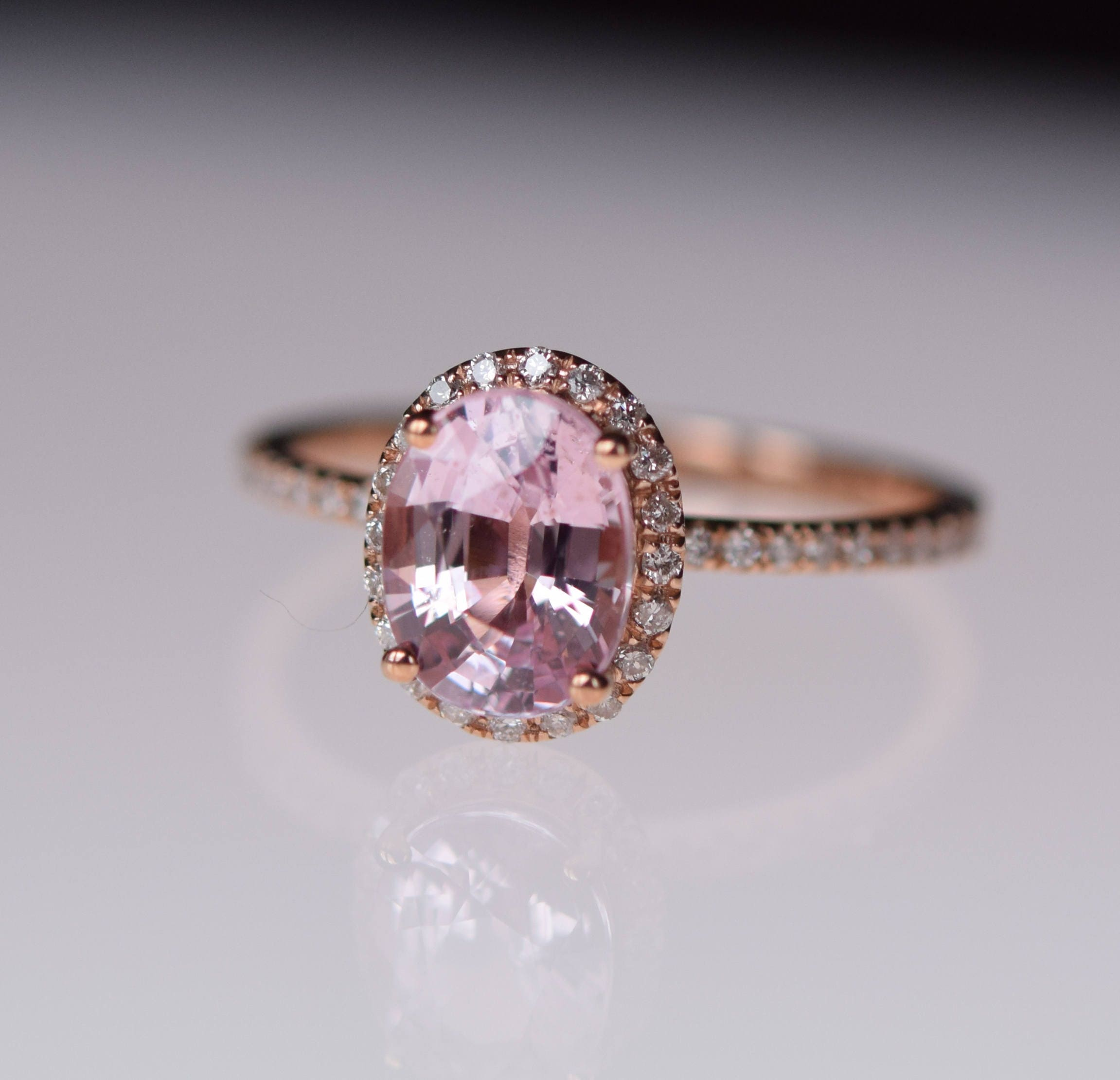 org engagement light deco vintage pear shaped halo unheated sapphire products art diamond rose gold peach ring