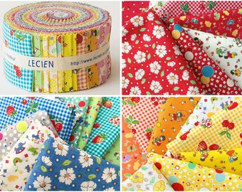 Lecien Retro 30's Child Smile Fall 2015 Sushi Roll 2-1/2 in Strips Roll Up - 42 Pcs Jelly Roll Strips