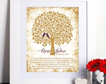 Wedding Gift for Mother In-Law, Thank you gift, Mother of Groom Gift, Parents of Groom Gift, Wall Art, Art print, Mother-In-Law Gift  051